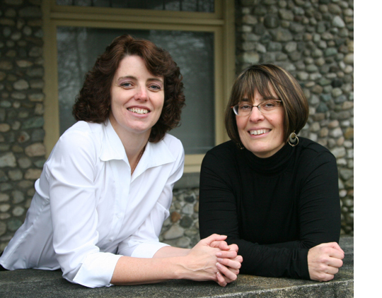Jill Cory and Karen McAndless-Davis on a Balcony