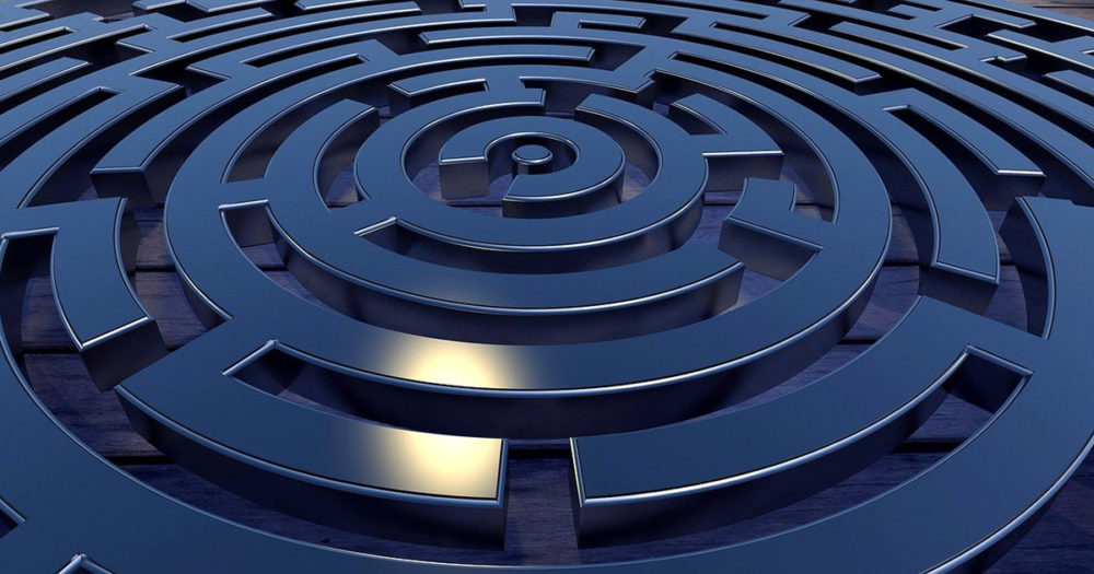 An image of a dark and foreboding labyrinth.